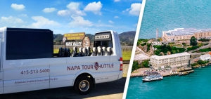 Alcatraz and Next Day Open Top Napa Tour from San Francisco